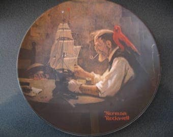"""Vintage Norman Rockwell Collectible China Plate-""""The Ship Builder"""""""""""