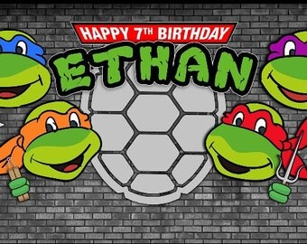 Teenage Mutant Ninja Turtles Themed Backdrop- .JPEG File via Email Delivery - You Print Your Own