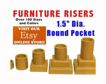 """1.5"""" Dia. Top Pocket - Furniture Risers and Bed Lifters"""