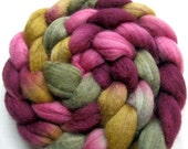 Polwarth and Tussah Silk Hand Painted Fiber 4 oz.