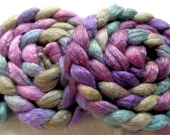 Merino/Tencel Hand Painted Roving (Combed Top) 4 0z.