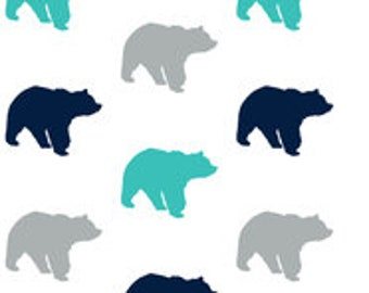 Nursery Items in Bear Fabric, Gavin Collection,woodland crib set,Changing covers,crib skirt rail guard sheet pillows