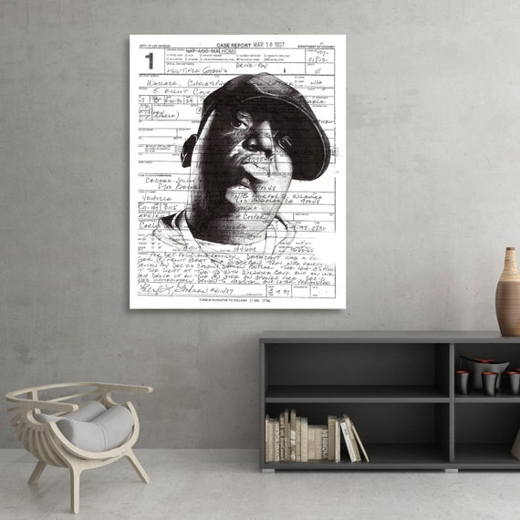 "Christopher ""Biggie Smalls"" Wallace Ballpoint Pen Illustration"