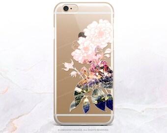 iPhone 7 Case Floral Clear Rubber Case iPhone 7 Plus Case iPhone 6 Case iPhone 6S Case iPhone SE Case Samsung S7 Edge Case iPhone Case U236