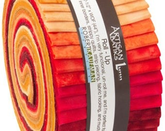Kona Cotton Fabric/Darling Clementine/Coral/Precut Roll Up/40 X 2.5 Inch Strips/2.8 Total Yards/Cotton Material/Craft, Quilt Stash/RU-432-40