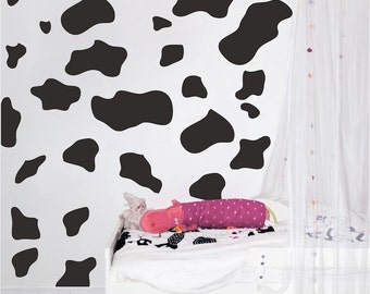 Animal Wall Decal Print For Bedrooms, Cheetah Spot Animal Stickers, Cow  Print For Kids