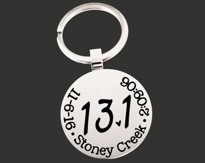 13.1 Keychain | Half Marathon Keychain | Marathon Gifts | Runner Gift | Half Marathon Gift | Custom Personalized Keychain | Korena Loves