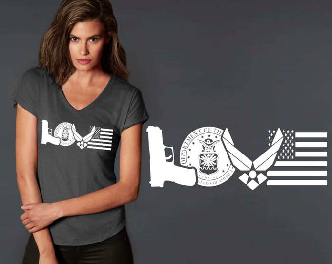 Air Force Love | Air Force Wife | Air Force Shirt | Friend Gift | Daughter Gift | Custom T-shirts | Quotes | Quote Shirt | Korena Loves