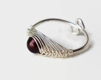 Wire Wrapped Ring in Herringbone technique