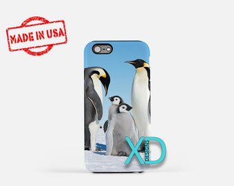 Penguin Family iPhone Case, Bird iPhone Case, Penguin iPhone 8 Case, iPhone 6s Case, iPhone 7 Case, Phone Case, iPhone X Case, SE Case New