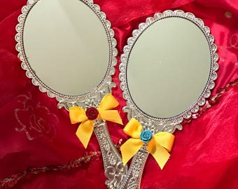 Beauty and the Beast Handheld Enchanted Mirror