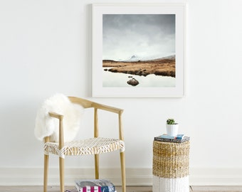 Ready to Hang Framed Wall Art, Framed Photography, Scotland Art Print, Rannoch Moor, Art in Frame, Made in USA