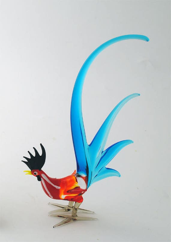 Rooster Red Aqua