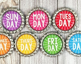 Days of the week - Chore magnets - Chore chart - Memo board - Earth magnets - Organization - Planning tools - Home office - Teacher tools