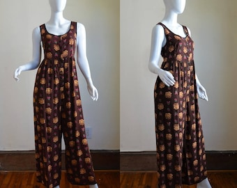 Early 1990s Betsey Johnson Floral Onesie Jumpsuit