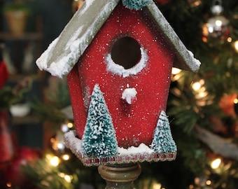 Vintage Style Christmas Birdhouse