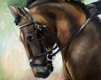 "Print of original oil equestrian painting horse art ""Morning Glory"" / Mary Sparrow of Hanging the Moon Studio"