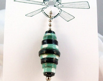 Fan or Light Pull for Ceiling Fan or Chain Pull for Lamp Large Handmade Paper Bead