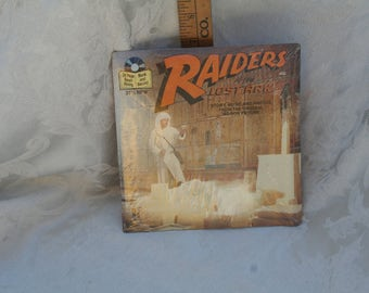 Vintage 1980s  Read-Along 45 Record, Raiders of the Lost Ark, Indiana Jones, Brand New & Sealed!
