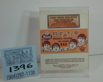 1960's Hood Brand Beatles Krunch-Coated Ice Cream Bar- Unused Wrapper