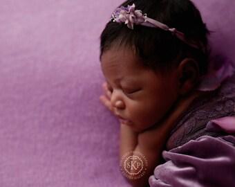 Newborn Photography Fabric Backdrop -  Lavender Ultra Soft Drew Knit Backdrop