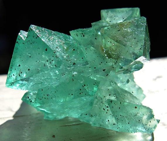 A Teal Green Fluorite from Riemvasmaak, South Africa