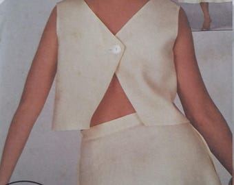 UNCUT and FF Pattern Pieces Vintage Simplicity 6443 Sewing Pattern Sizes 6-8-10 Two-Piece Dress Fast and Fabulous