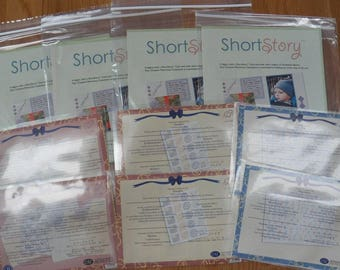 Creative Memories LOT of 10 Packs New~Short Stories/Energize/Personalize Stickers~Cards~Paper