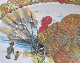 Turkey Basting Brush  FULLER Brush Co Antique Farmhouse Kitchen Utensils Pastry Brush Baking Cooking Pastry Brush Vintage Utensils