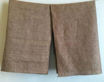 Truffle Brown Linen Blend Tea Towels, Set of Two Linen Kitchen Towels or Place Mats, Serger Hemmed Tea Towels, Earth Tone Towels