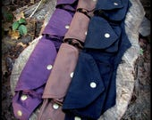 Small Petite Steampunk Utility Belt Bag ~ Pocket Belt Burning Man Festival Belt Fanny Pack ~ vegan canvas brass ~ black, brown, purple