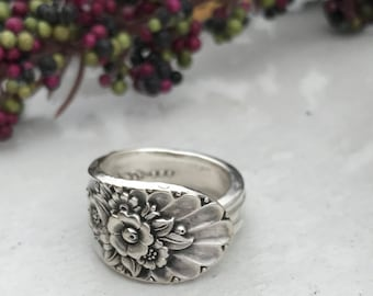 Sterling Silver Plate Spoon Rings, Pattern: Jubilee circa 1953