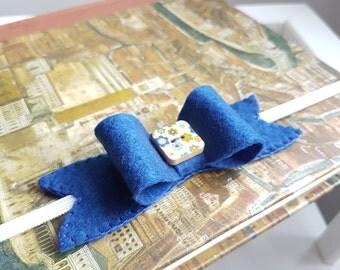Navy Bow Headband