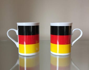 German flag colored mugs