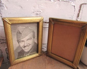 Gold Picture Frame Vintage Double Hinged