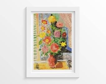 Cross Stitch Kit Grand Bouquet by Moise Kisling, Floral Cross Stitch, Embroidery Kit, Needlework DIY Kit (KISLI01)