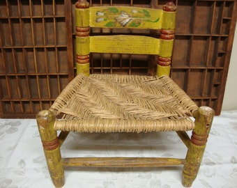 Mexican Folkart Childs Chair