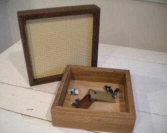 "Play Table for LEGO® Bricks with 10""x10"" baseplate.  Storage table for LEGO Bricks.  Portableplay station for LEGO Bricks.  Travel Set."