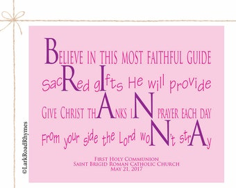 Baby Blessing Christian Nursery Decor Baptism Gifts From Godparents Baptism Keepsake God Daughter Gift Godchild Gifts  Poem 8x10 Brianna