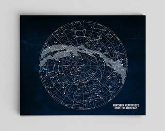 Stars Map Constellations Map Chalkboard Astronomy Poster Star Art Science Art Office Decor Southern Constellation Print Constellation Art