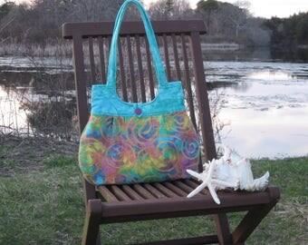 Colorful Batik fabric handbag