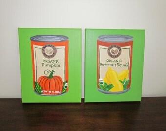 Pop Art Vegetable Cans