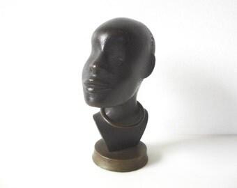 Werkstätte Hagenauer Wien Bronze African Male Bust