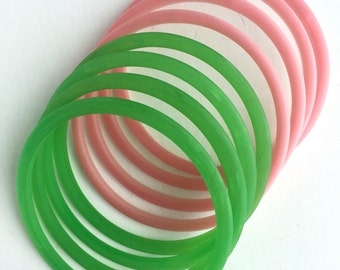 Pink and Green Bangles