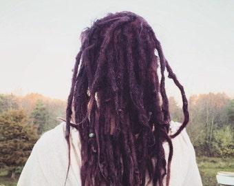 Human hair luxury dreadlock extensions (10)