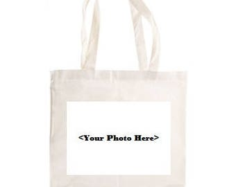 White Custom Photo Tote