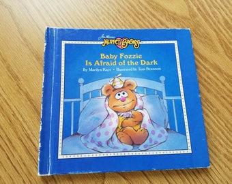 Vintage Muppet Babies Baby Fozzie is Afraid of the Dark