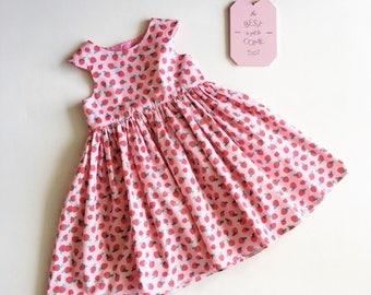 SALE - Strawberry Party Dress