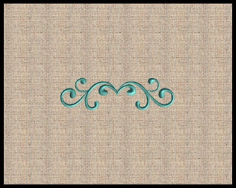 Scroll Flourish Machine Embroidery Design Text Divider Embroidery Design Filigree Filagree Embroidery Design Scroll Design 1