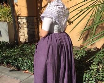 Woman 18th Century Colonial, Linen Petticoat